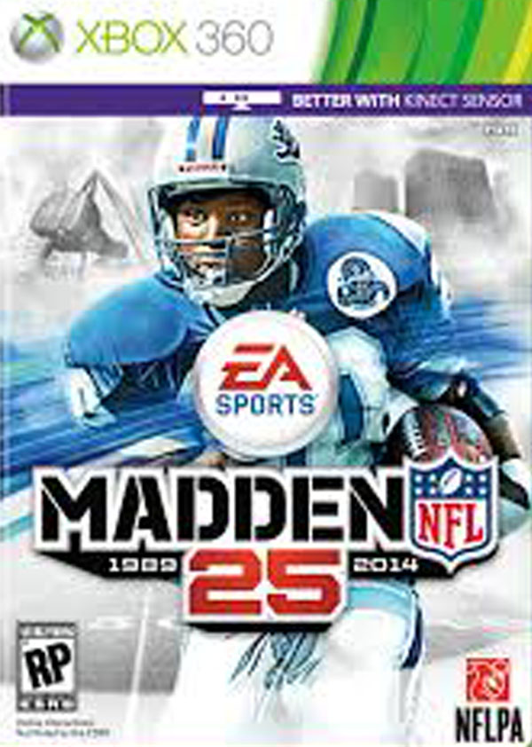 Madden NFL 25 Video Game Back Title by WonderClub