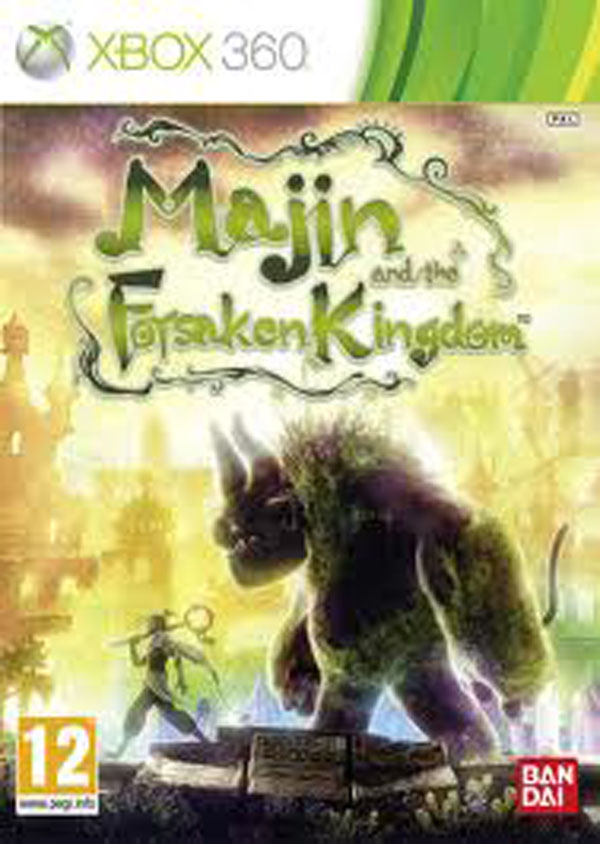Majin And The Forsaken Kingdom Video Game Back Title by WonderClub