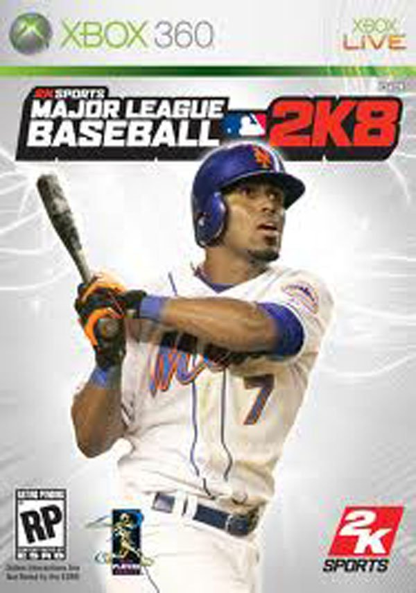 Major League Baseball 2K8 Video Game Back Title by WonderClub