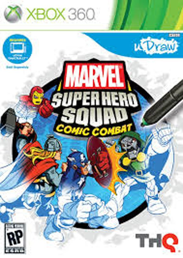 Marvel Super Hero Squad: Comic Combat Video Game Back Title by WonderClub