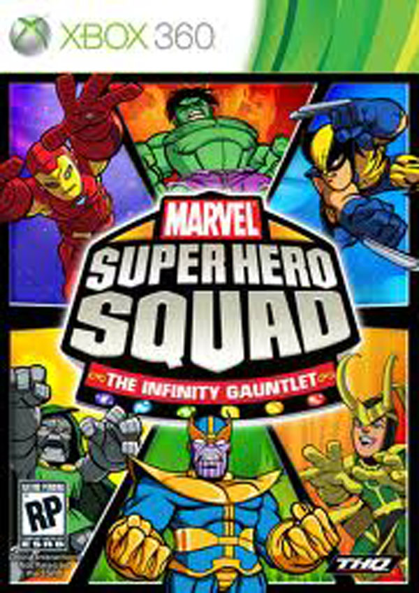 Marvel Super Hero Squad: The Infinity Gauntlet Video Game Back Title by WonderClub