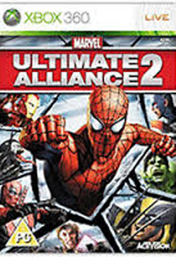 Marvel: Ultimate Alliance 2 Video Game Back Title by WonderClub