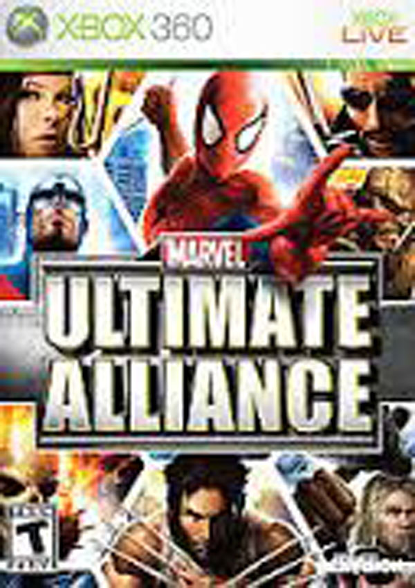 Marvel: Ultimate Alliance Video Game Back Title by WonderClub