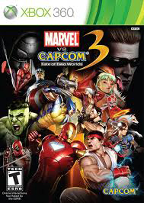 Marvel Vs. Capcom 3: Fate Of Two Worlds Video Game Back Title by WonderClub