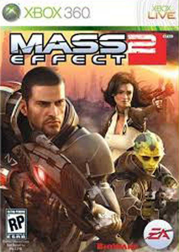 Mass Effect 2 Video Game Back Title by WonderClub