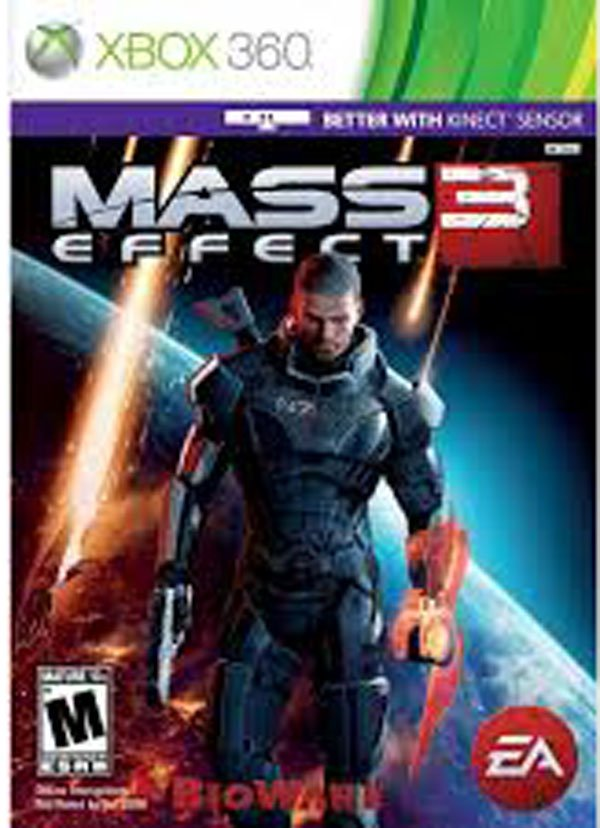 Mass Effect 3 Video Game Back Title by WonderClub