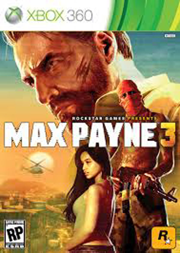 Max Payne 3 Video Game Back Title by WonderClub