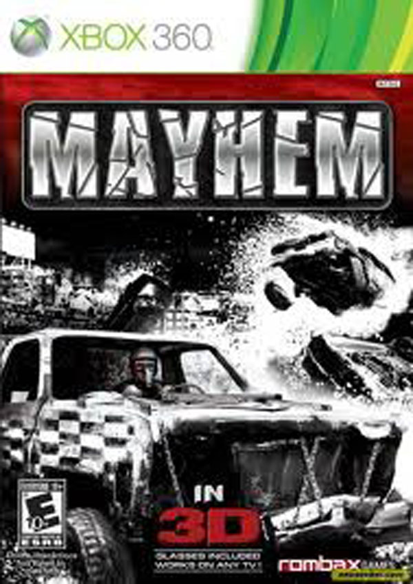 Mayhem Video Game Back Title by WonderClub