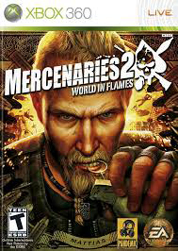 Mercenaries 2: World In Flames Video Game Back Title by WonderClub