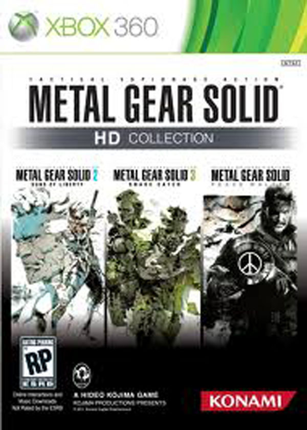 Metal Gear Solid HD Collection Video Game Back Title by WonderClub