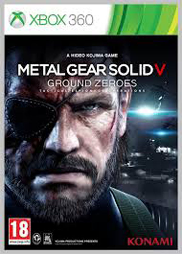 Metal Gear Solid V: Ground Zeroes Video Game Back Title by WonderClub