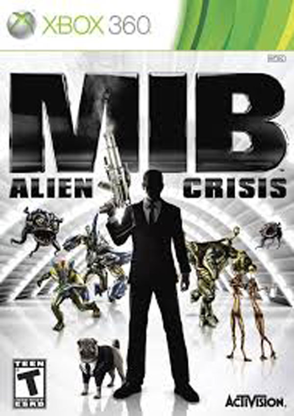 MIB: Alien Crisis Video Game Back Title by WonderClub