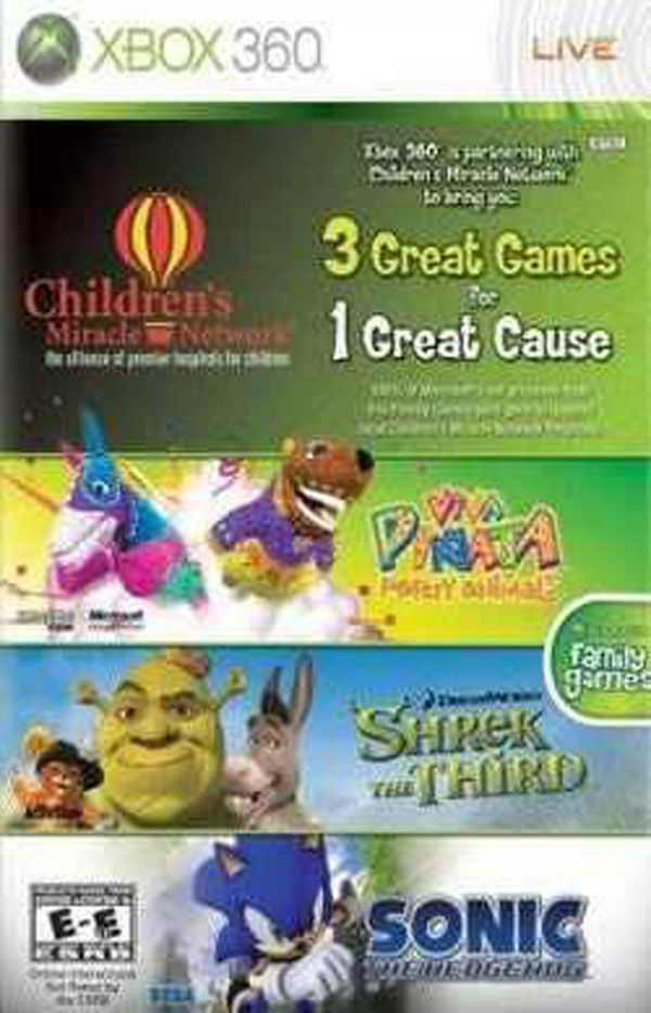 Microsoft Children's Miracle Network Games Bundle Video Game Back Title by WonderClub