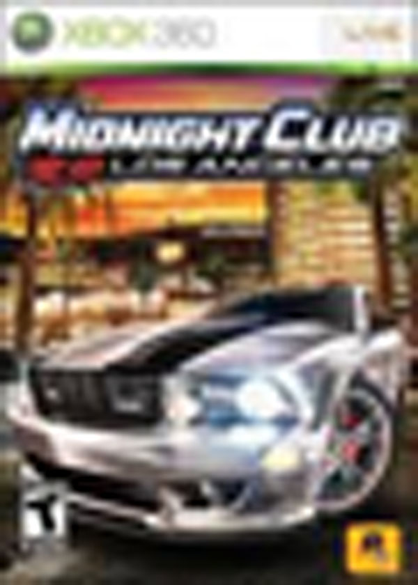 Midnight Club: Los Angeles Video Game Back Title by WonderClub
