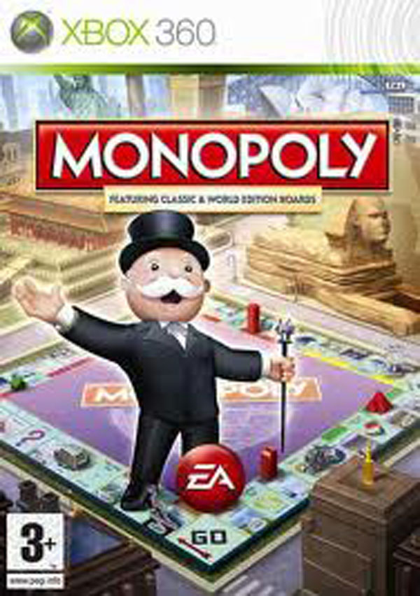 Monopoly  Video Game Back Title by WonderClub