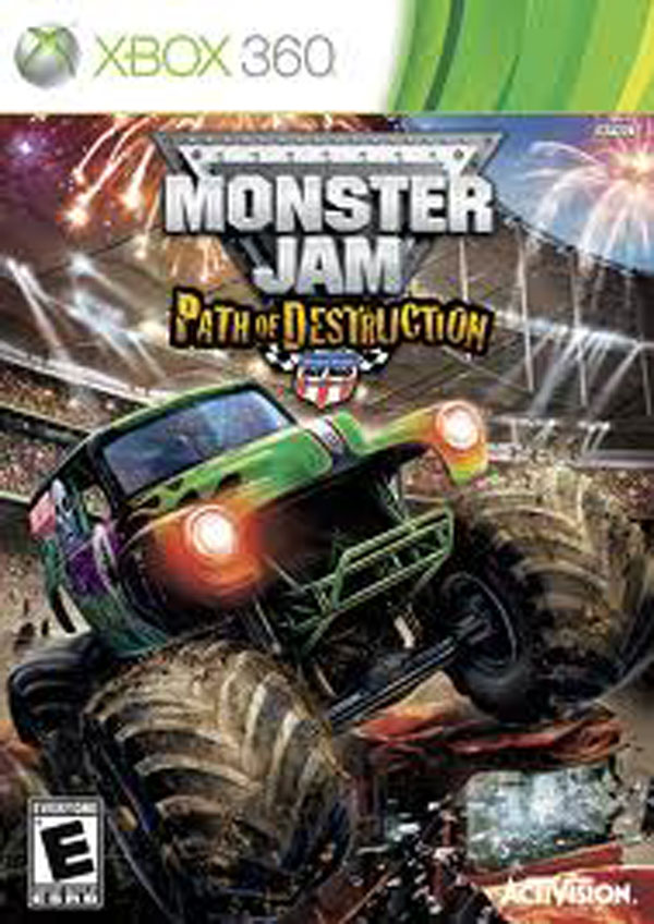 Monster Jam: Path Of Destruction Video Game Back Title by WonderClub
