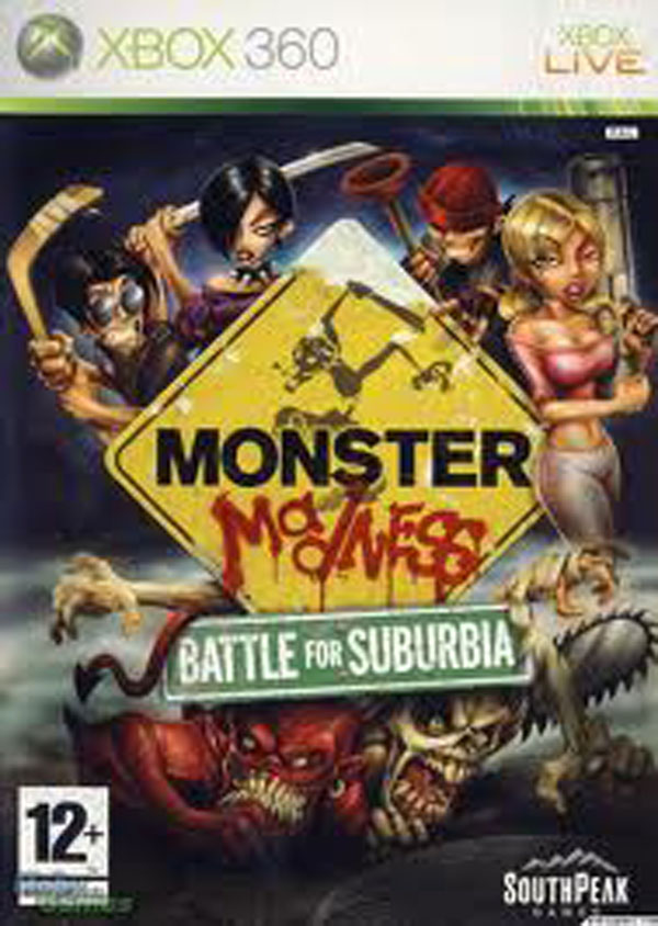 Monster Madness: Battle For Suburbia Video Game Back Title by WonderClub