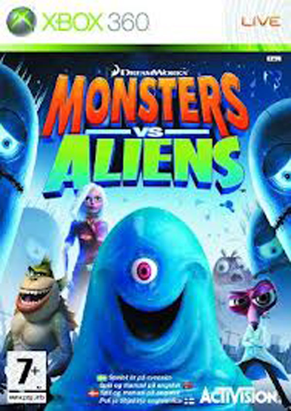 Monsters Vs. Aliens Video Game Back Title by WonderClub