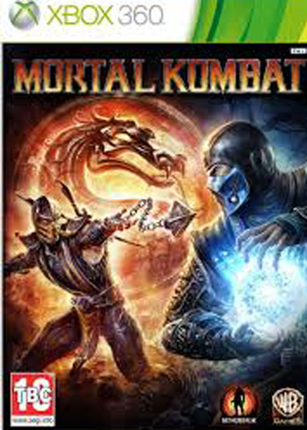Mortal Kombat  Video Game Back Title by WonderClub