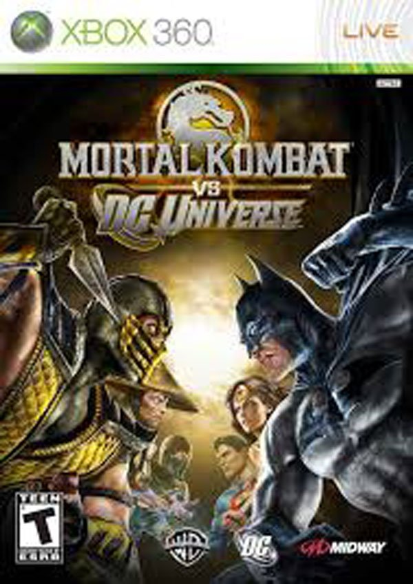Mortal Kombat Vs. DC Universe Video Game Back Title by WonderClub