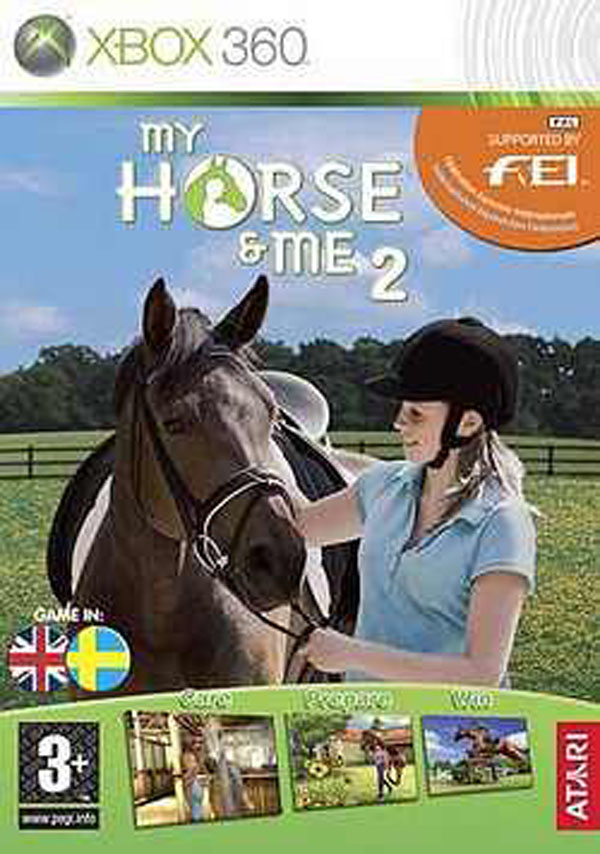 My Horse & Me 2 Video Game Back Title by WonderClub