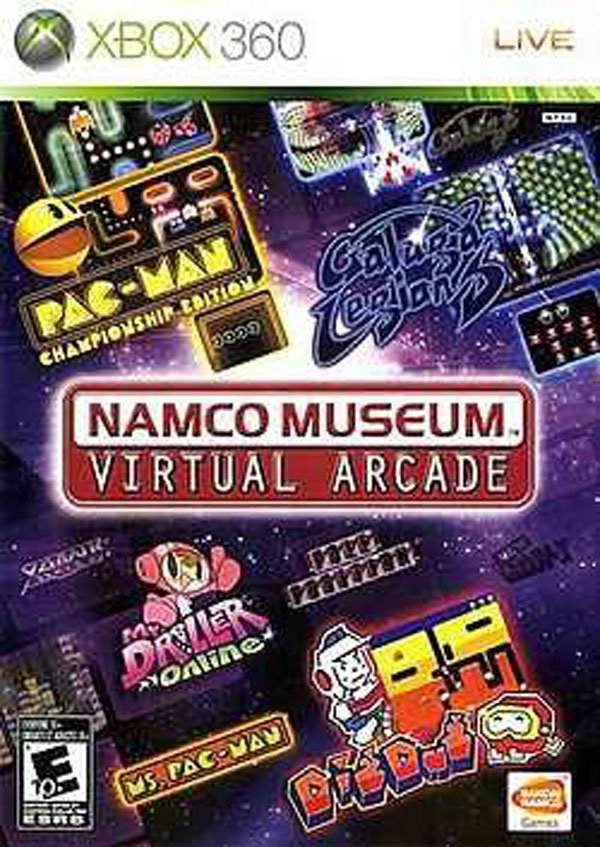 Namco Museum Virtual Arcade Video Game Back Title by WonderClub