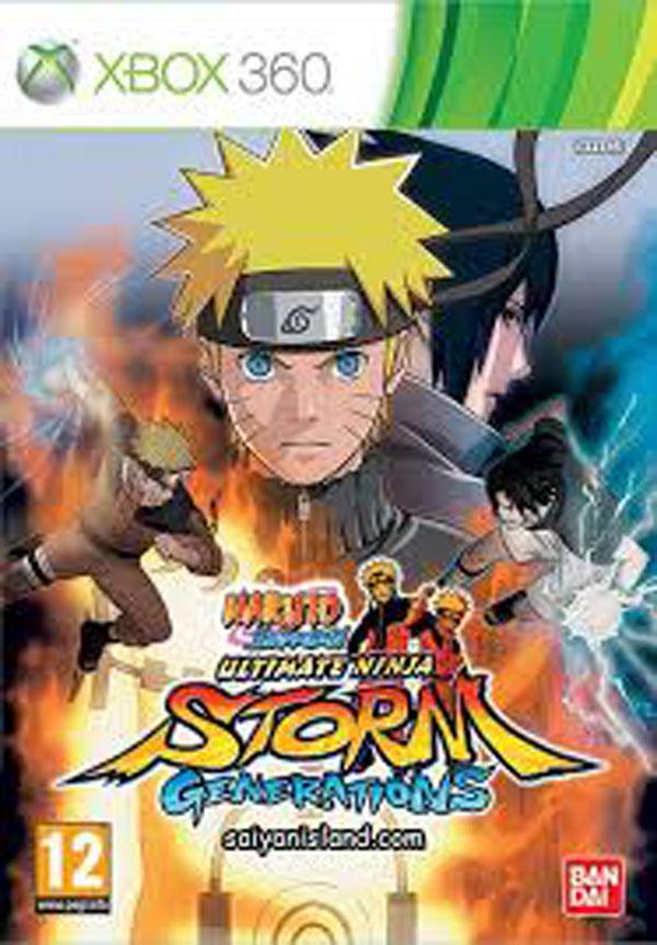 Naruto Shippuden: Ultimate Ninja Storm Generations Video Game Back Title by WonderClub