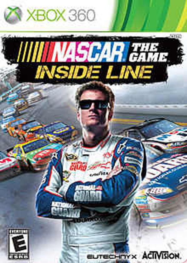 NASCAR The Game: Inside Line Video Game Back Title by WonderClub