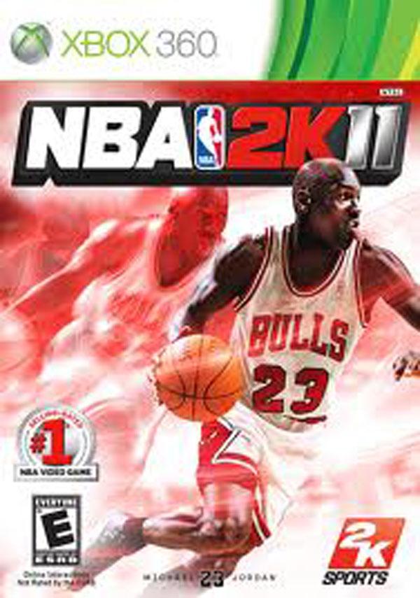 NBA 2K11 Video Game Back Title by WonderClub