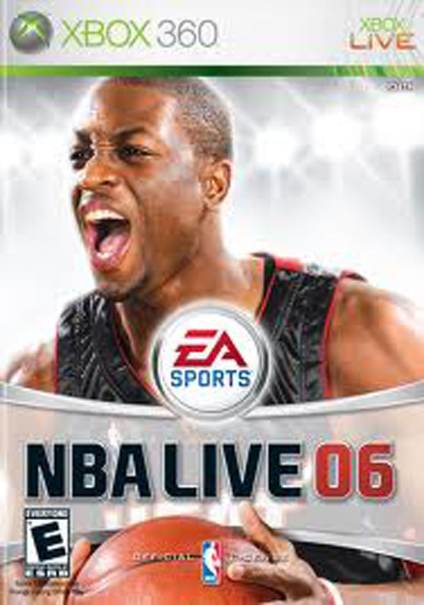NBA Live 06 Video Game Back Title by WonderClub