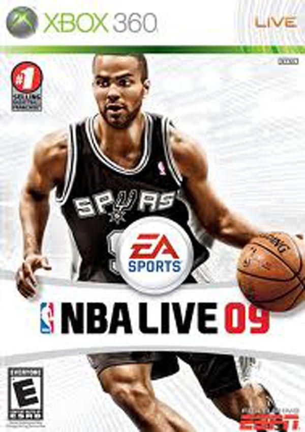 NBA Live 09 Video Game Back Title by WonderClub