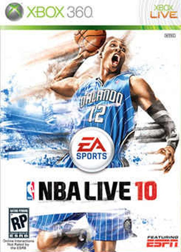 NBA Live 10 Video Game Back Title by WonderClub