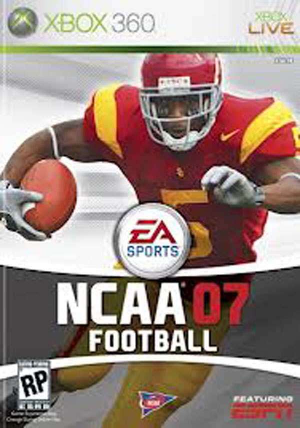 NCAA Football 07 Video Game Back Title by WonderClub