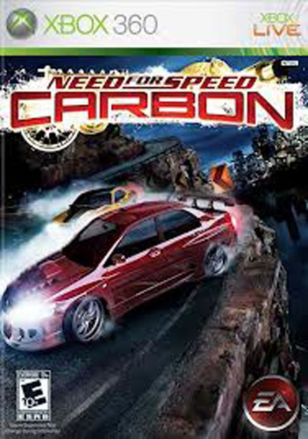 Need For Speed: Carbon Video Game Back Title by WonderClub