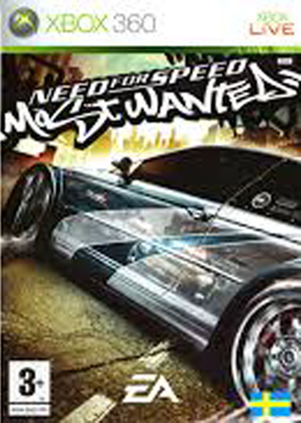 Need For Speed: Most Wanted  Video Game Back Title by WonderClub