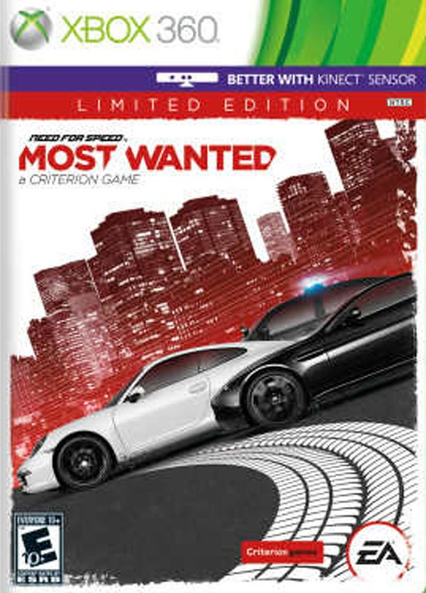 Need For Speed: Most Wanted (2012 Video Game) Video Game Back Title by WonderClub