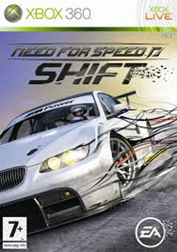 Need For Speed: Shift Video Game Back Title by WonderClub