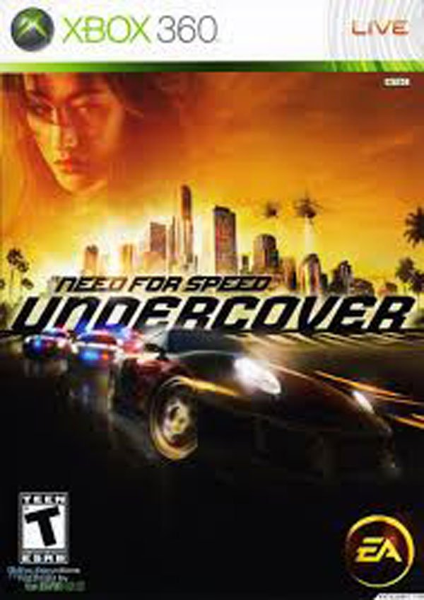 Need For Speed: Undercover Video Game Back Title by WonderClub