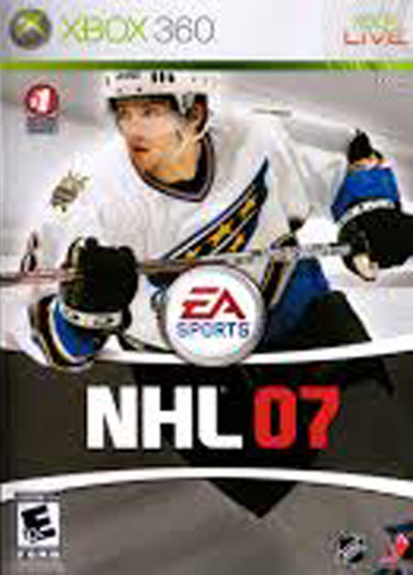 NHL 07 Video Game Back Title by WonderClub