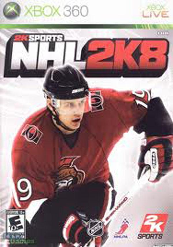 NHL 2K8 Video Game Back Title by WonderClub