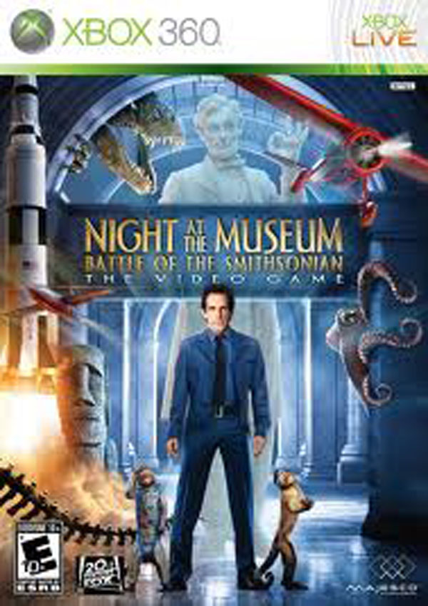 Night At The Museum: Battle Of The Smithsonian  Video Game Back Title by WonderClub