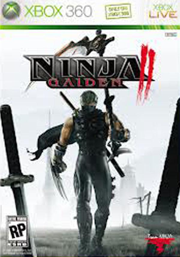 Ninja Gaiden II Video Game Back Title by WonderClub
