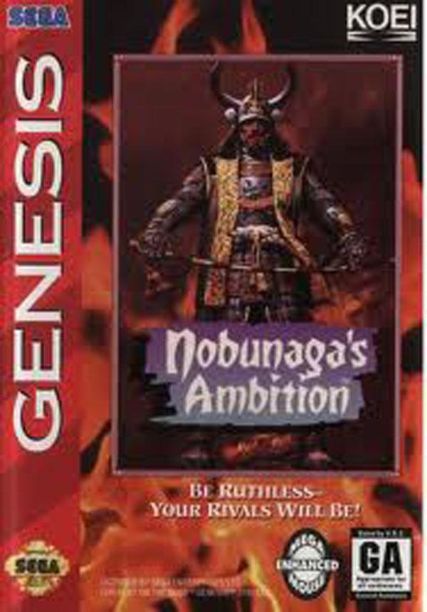 Nobunaga's Ambition Video Game Back Title by WonderClub