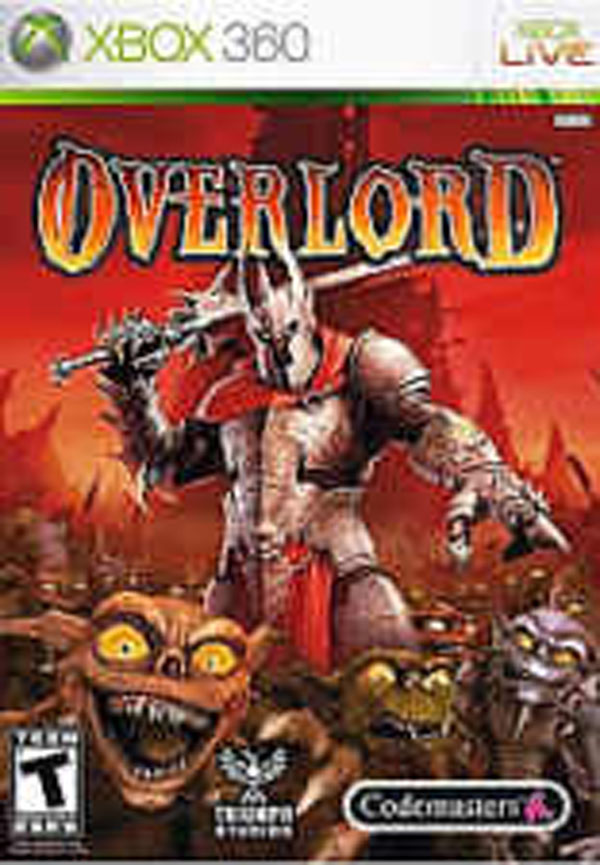 Overlord (2007 Video Game) Video Game Back Title by WonderClub