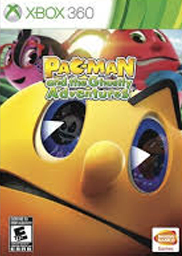 Pac-Man And The Ghostly Adventures Video Game Back Title by WonderClub