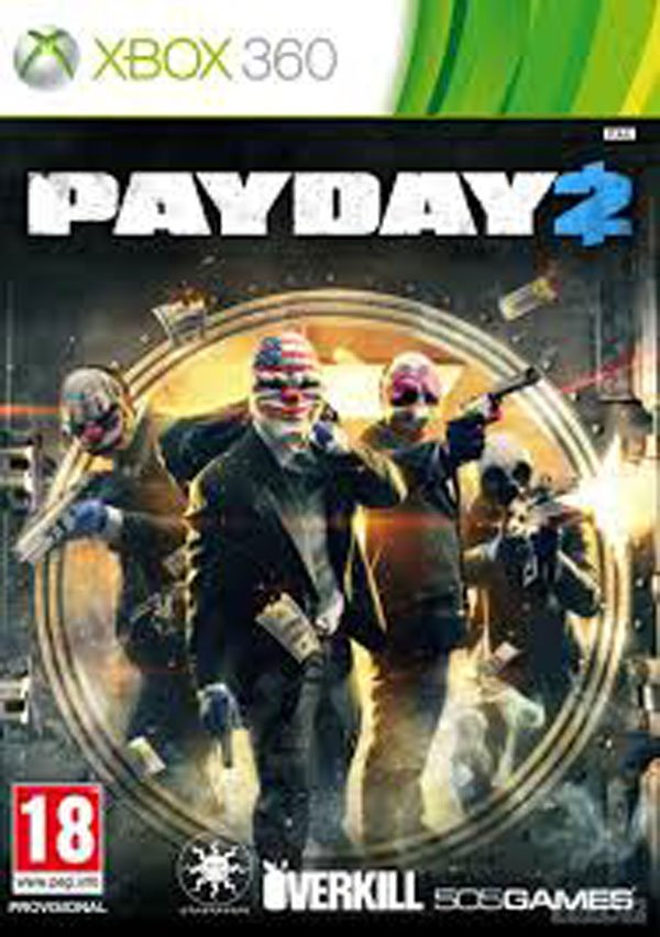 Payday 2 Video Game Back Title by WonderClub