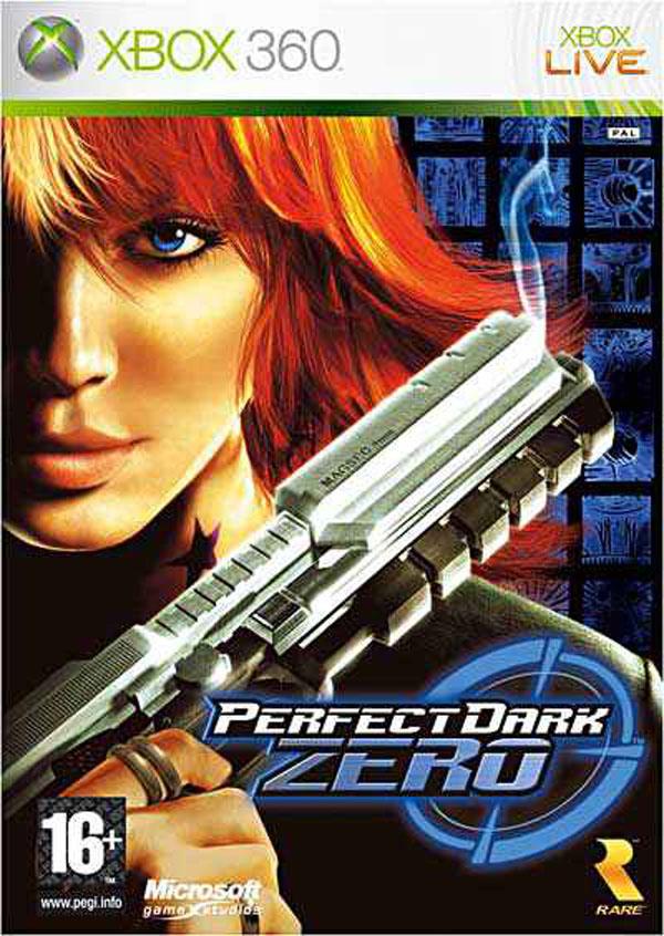 Perfect Dark Zero Video Game Back Title by WonderClub
