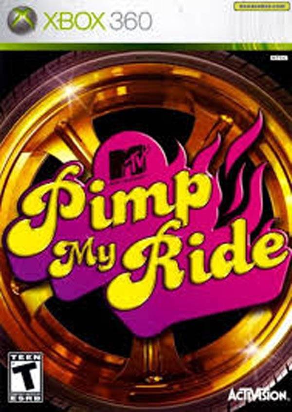Pimp My Ride Video Game Back Title by WonderClub