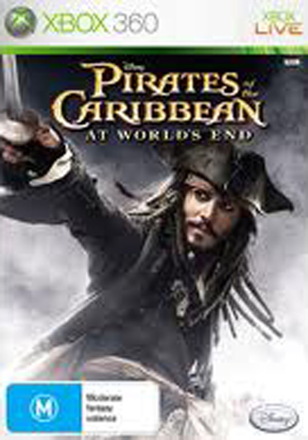 Pirates Of The Caribbean: At World's End  Video Game Back Title by WonderClub