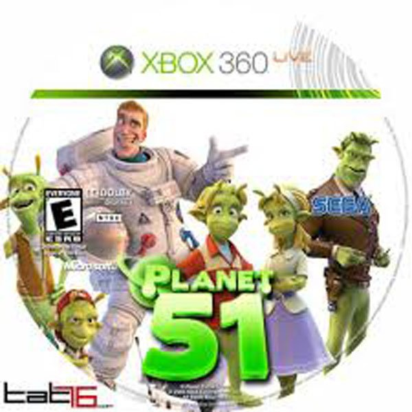 Planet 51 Video Game Back Title by WonderClub